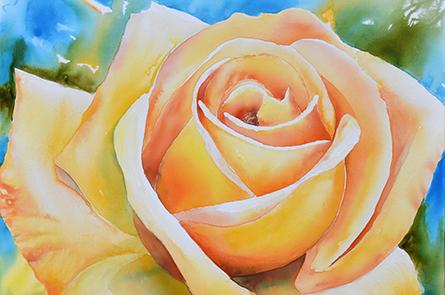 Gelborange Rose