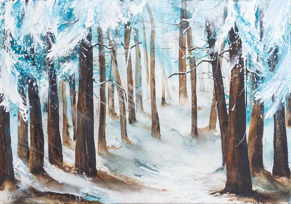 Winterzauber im Wald