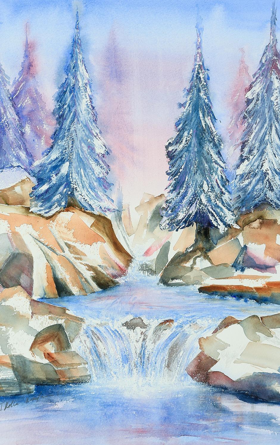 Tannen im Winterzauber