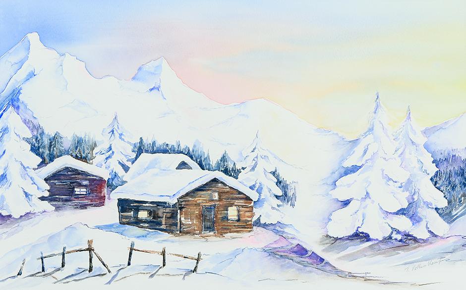 Winterliche Abendruhe